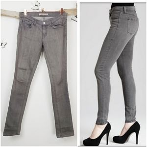 J brand gray pencil leg stretchy extra slim jean